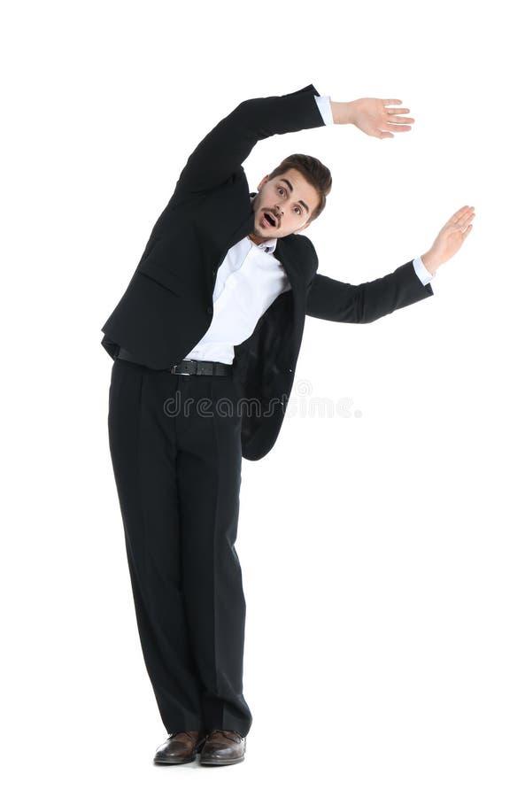 Homem de negócios novo atraído ao ímã fotos de stock royalty free