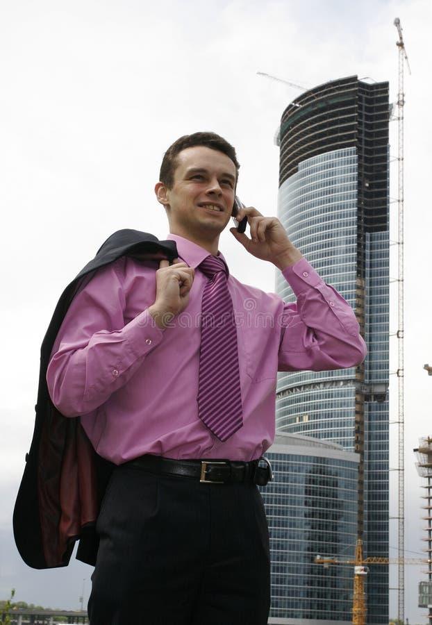 Homem de negócios novo atrativo imagem de stock