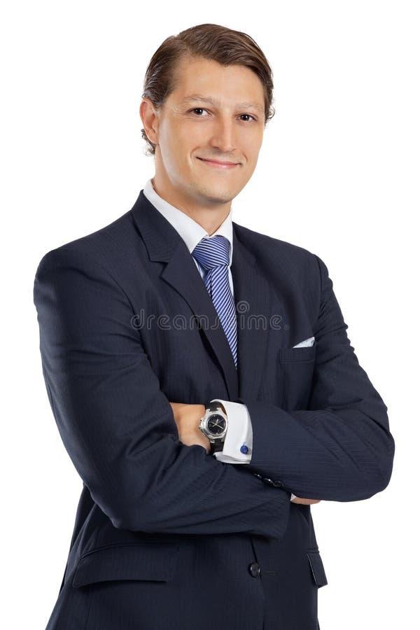 Download Homem De Negócios Novo Com Os Braços Cruzados Foto de Stock - Imagem de feliz, fundo: 26524462