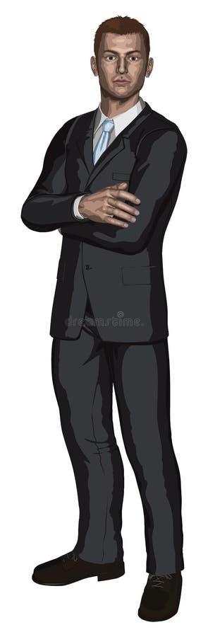 Homem de negócios novo considerável ilustração royalty free
