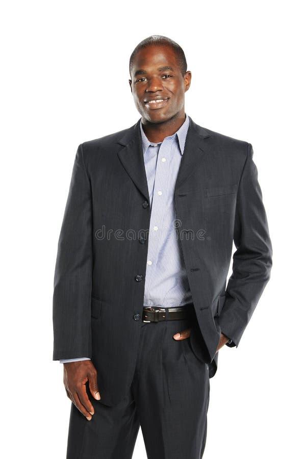 Homem de negócios novo do americano africano fotografia de stock royalty free