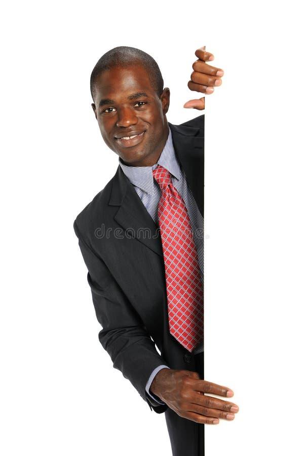 Homem de negócios novo do americano africano fotos de stock royalty free