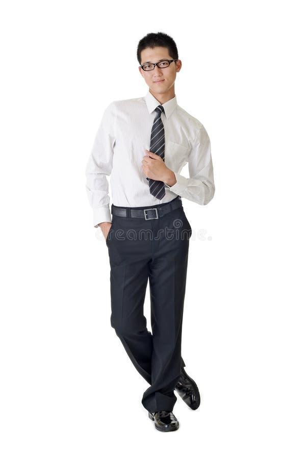 Homem de negócios novo esperto fotos de stock