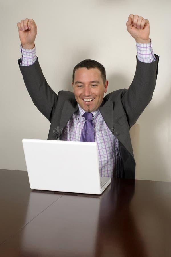 Homem de negócios novo feliz imagem de stock