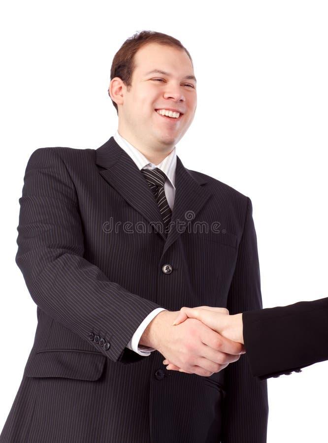 Download Homem De Negócios Novo Que Agita As Mãos. Foto de Stock - Imagem de liderança, acordo: 12810918
