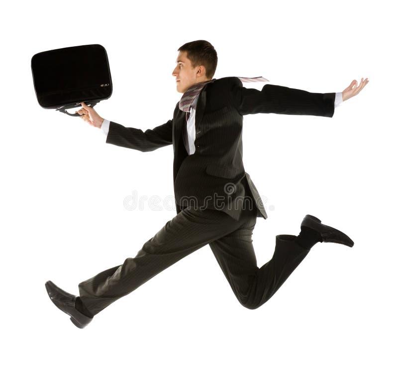 Homem de negócios novo Running imagem de stock