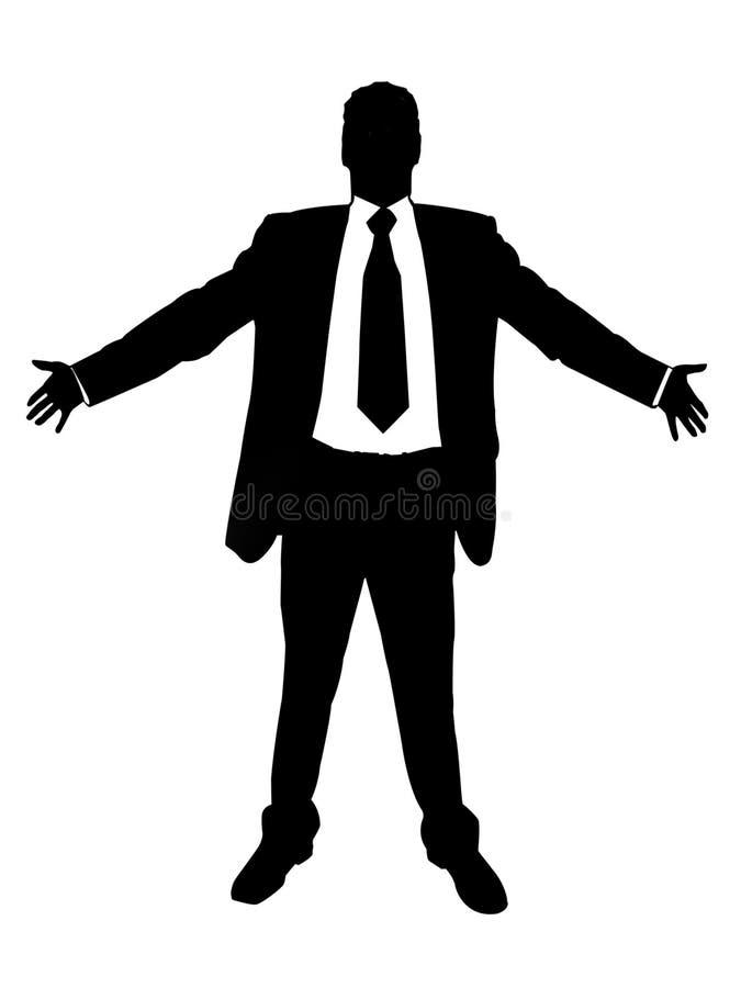 Homem de negócios orgulhoso ilustração do vetor