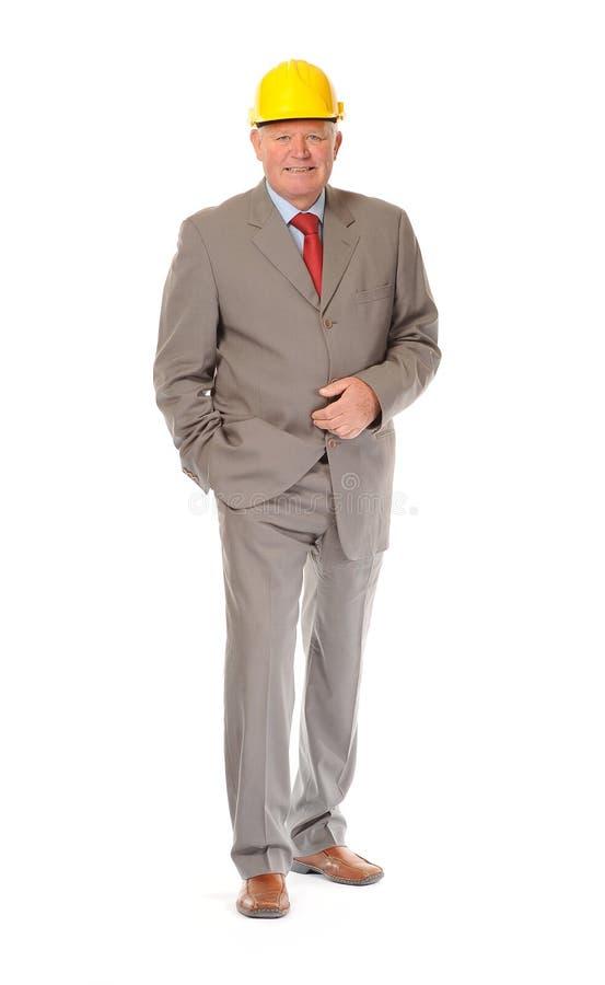 Homem de negócios ou contramestre maduro bem sucedido fotografia de stock