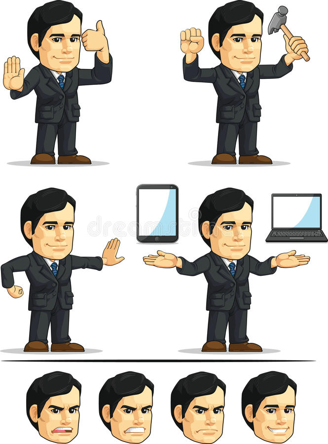 Homem de negócios ou escritório Masco customizável executivo ilustração stock
