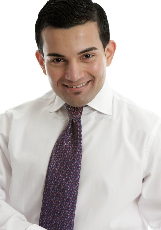 Homem de negócios ou vendedor de sorriso imagem de stock