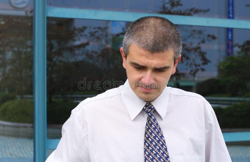 Homem de negócios pensativo fotos de stock