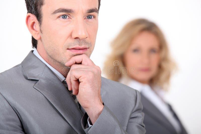 Download Homem De Negócios Pensativo Imagem de Stock - Imagem de facial, atrativo: 26504927