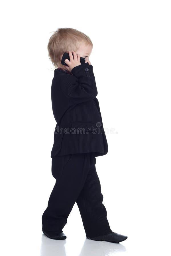 Homem de negócios pequeno fotografia de stock