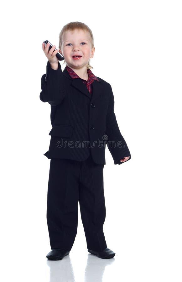 Homem de negócios pequeno foto de stock