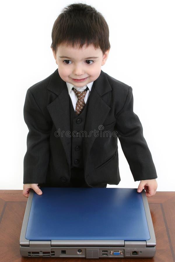 Homem de negócios pequeno adorável fotos de stock royalty free