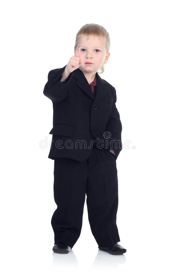 Homem de negócios pequeno no branco imagem de stock royalty free