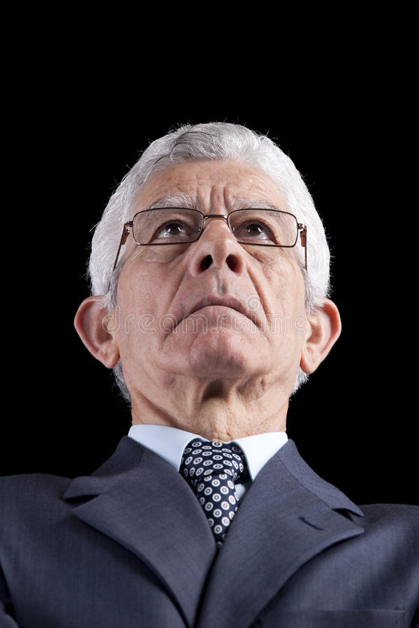 Homem de negócios poderoso fotografia de stock