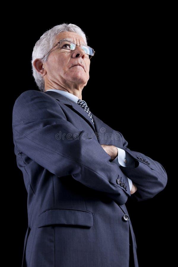 Homem de negócios poderoso imagens de stock royalty free