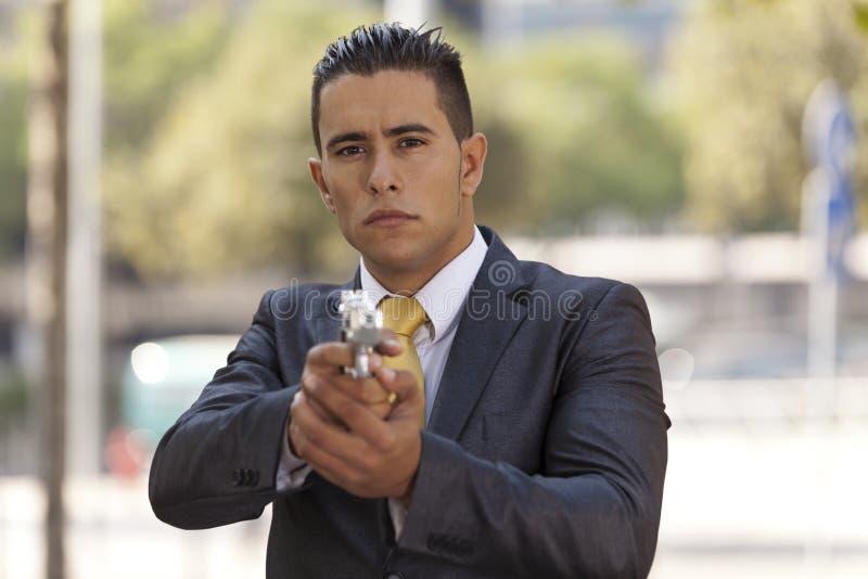 Homem de negócios poderoso da segurança imagens de stock