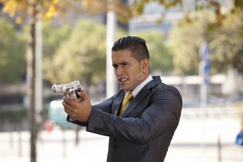 Homem de negócios poderoso da segurança foto de stock