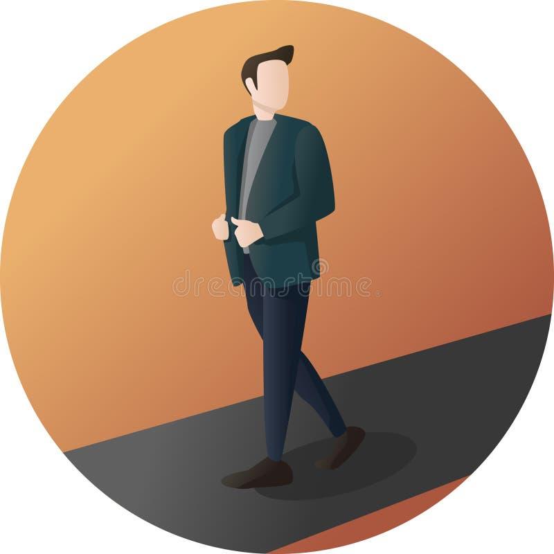 Homem de negócios Pose Character ilustração stock