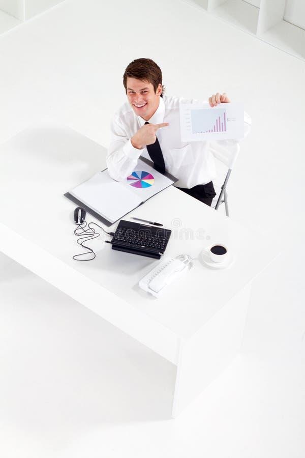 Homem de negócios positivo foto de stock