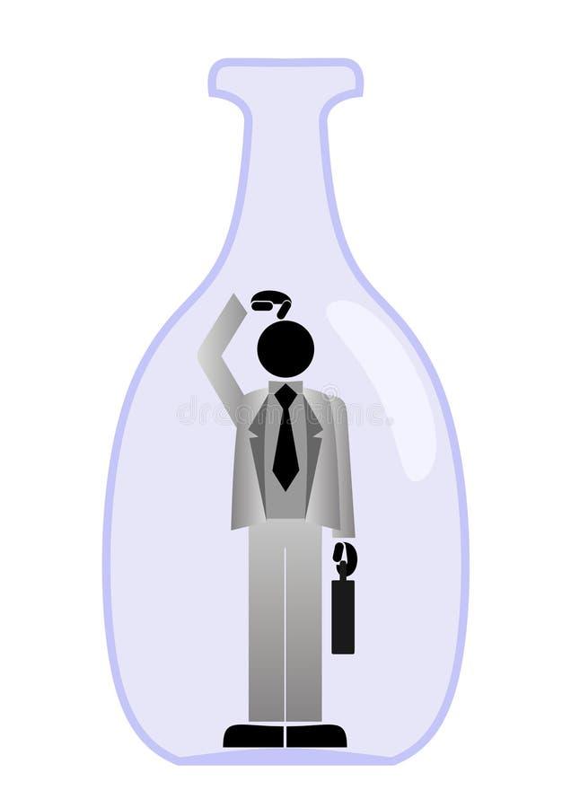 Homem de negócios prendido ilustração do vetor