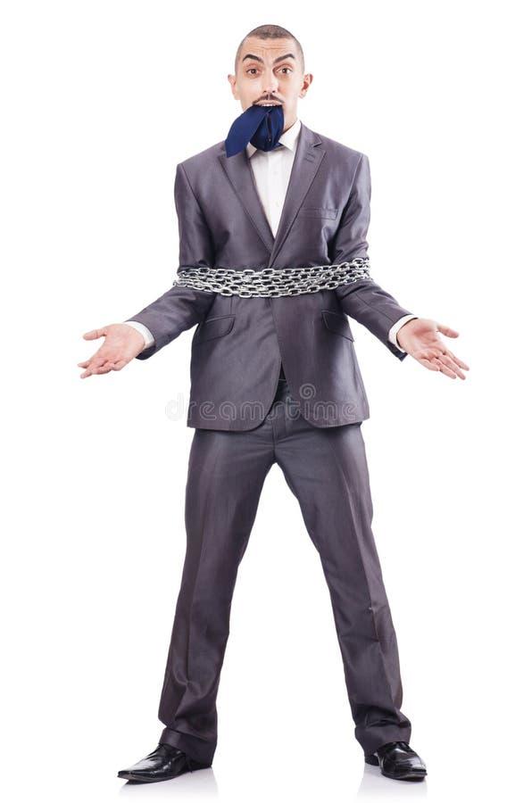 Homem De Negócios Prendido Fotografia de Stock Royalty Free