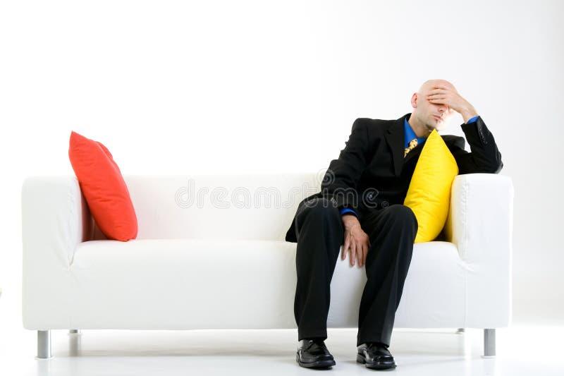 Homem de negócios preocupado imagem de stock royalty free