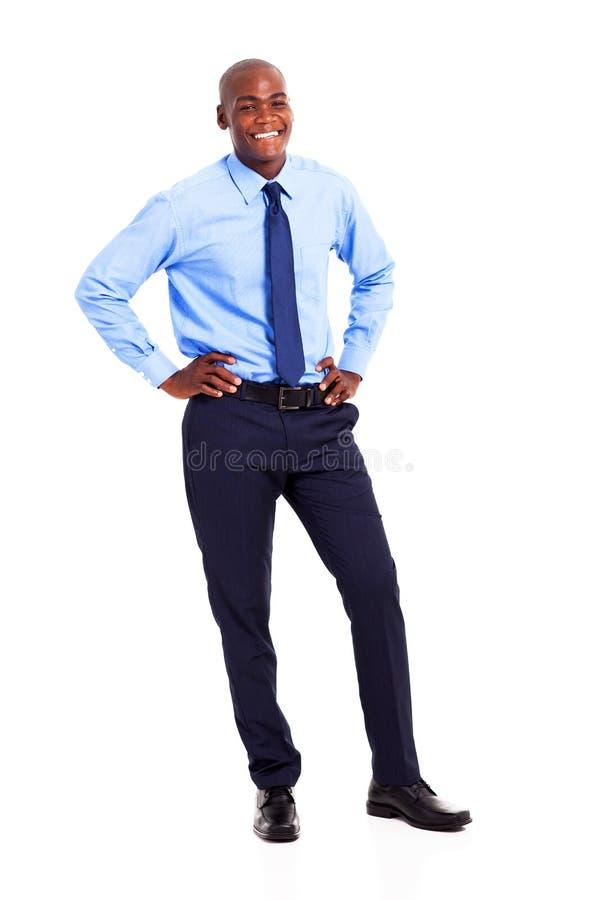 Homem de negócios preto fotografia de stock