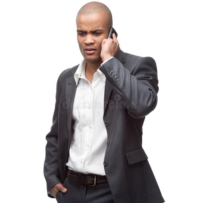 Homem de negócios preto foto de stock