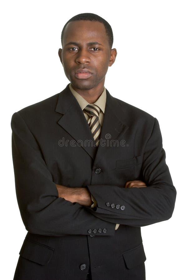 Homem de negócios preto foto de stock royalty free