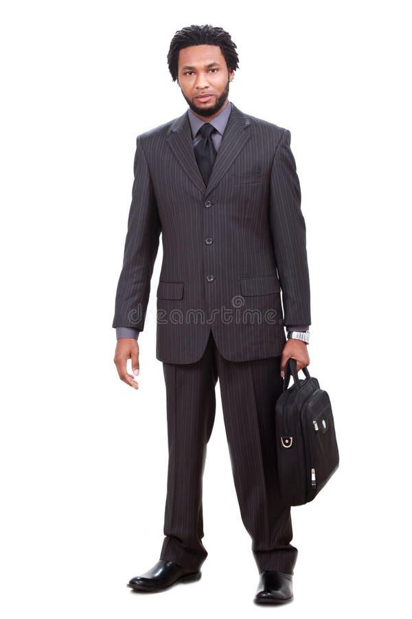 Homem de negócios preto confiável fotos de stock