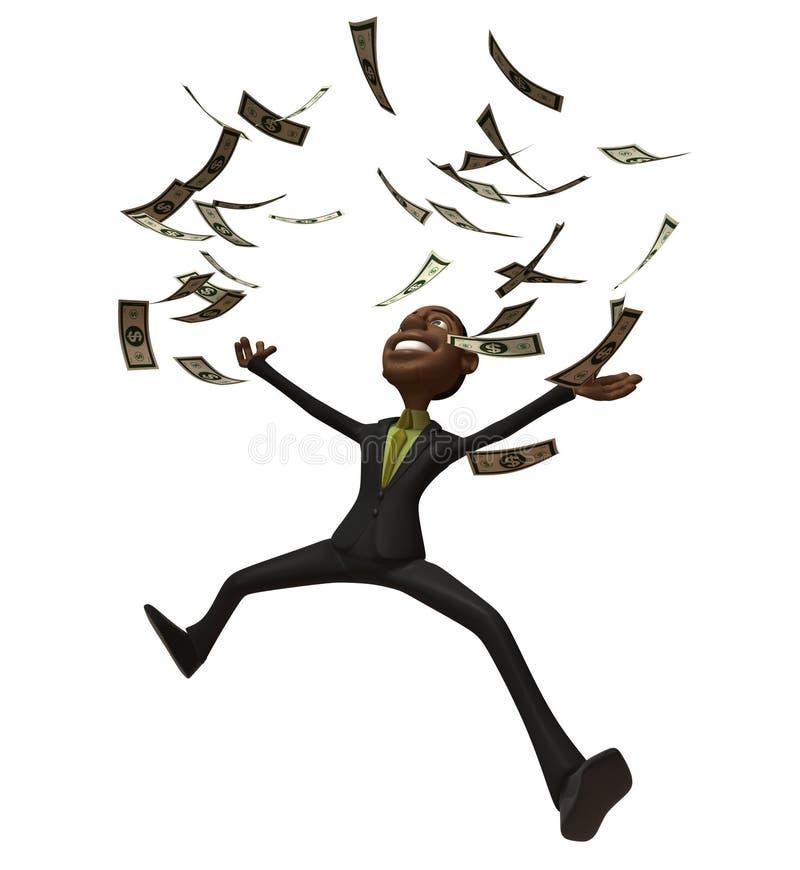 Homem de negócios preto rico ilustração royalty free