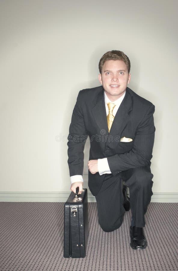 Homem de negócios pronto para ir foto de stock royalty free