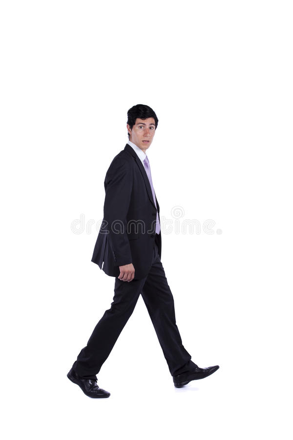 Homem de negócios que anda a você imagens de stock royalty free