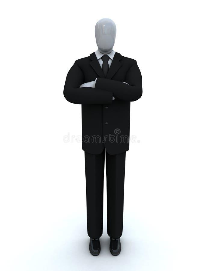 Homem de negócios que combina as mãos imagens de stock royalty free