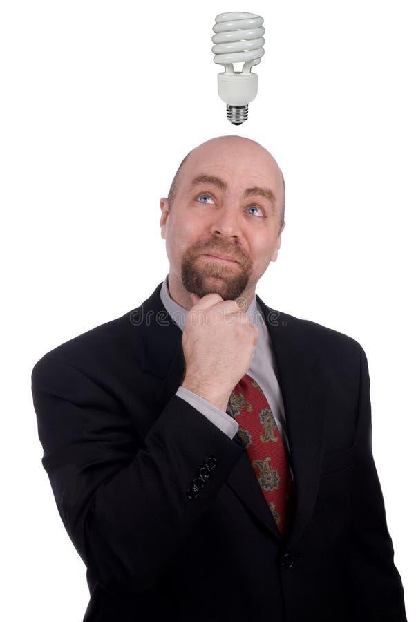 Homem de negócios que começ uma idéia imagens de stock royalty free