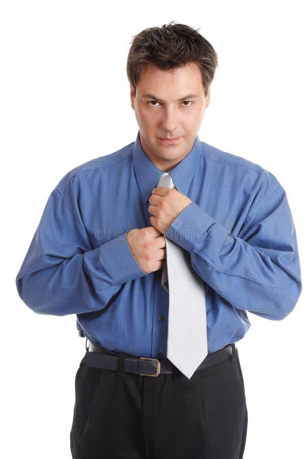 Homem de negócios que começ vestido imagem de stock royalty free