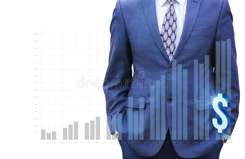 Homem de negócios que corre para programar o crescimento fotos de stock