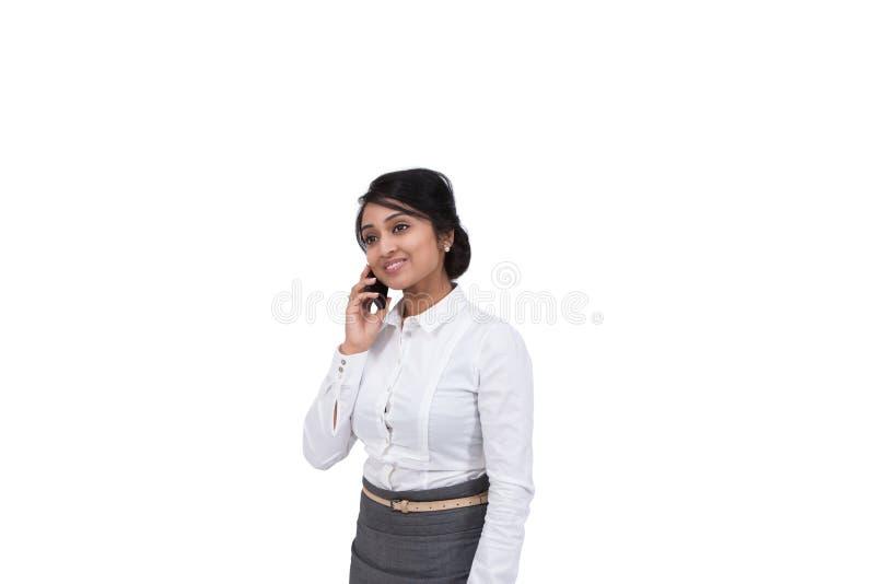 Homem de negócios que fala no telemóvel imagens de stock