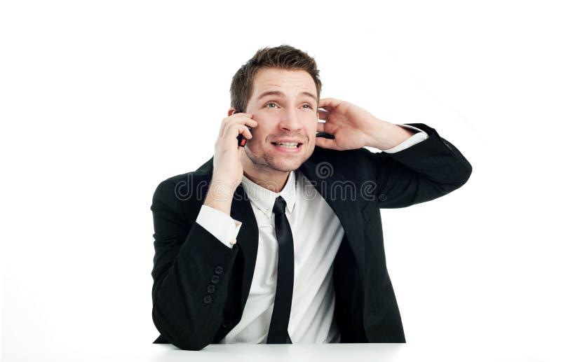 Download Homem De Negócios Que Fala Pelo Telefone Imagem de Stock - Imagem de reprimand, pensar: 12804979