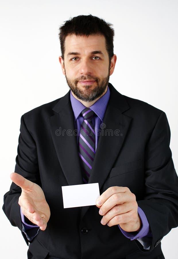 Homem de negócios que introduz-se fotografia de stock