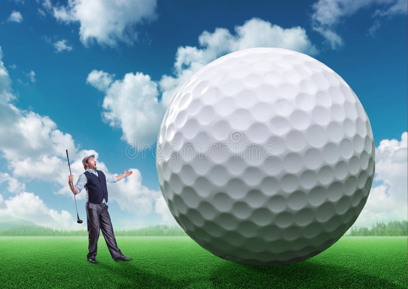 Homem de negócios que joga o golfe ilustração do vetor