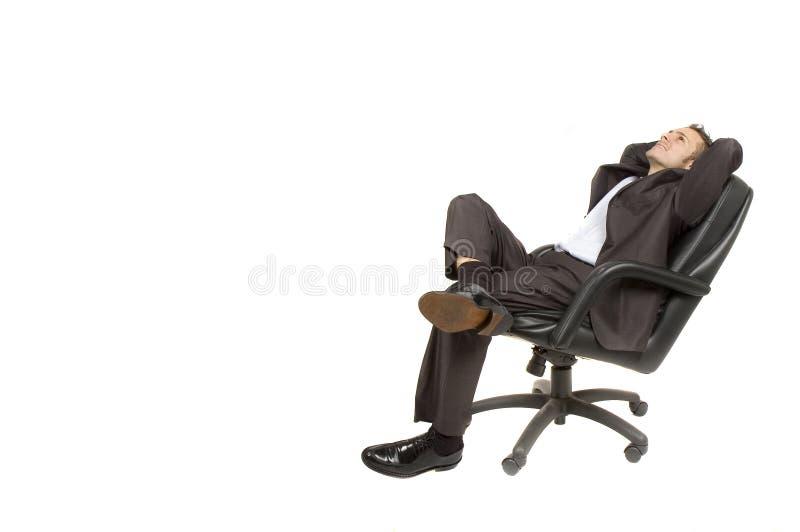 Homem de negócios que relaxa fotos de stock royalty free