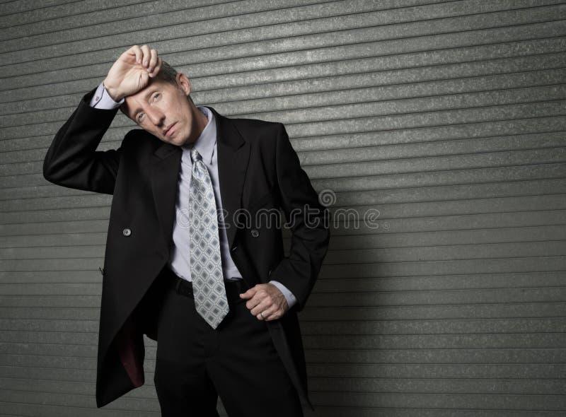 Homem de negócios quente foto de stock