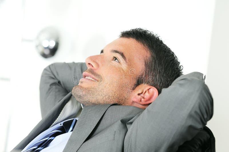 Homem de negócios Relaxed foto de stock royalty free
