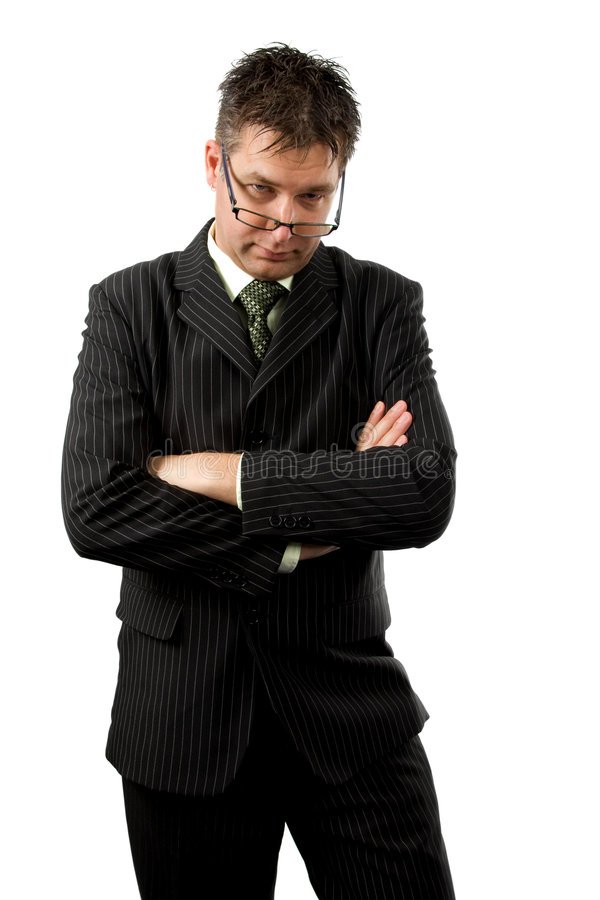 Homem de negócios resistente imagem de stock