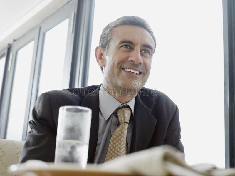 Homem de negócios In Restaurant imagem de stock royalty free