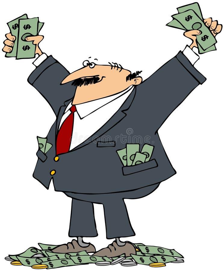 Homem de negócios rico ilustração royalty free